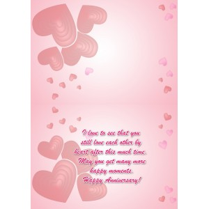 Personalized Anniversary Greeting Card 006 backview
