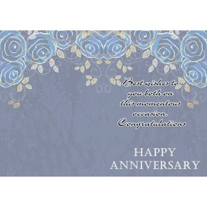 Personalized Anniversary Greeting Card 008 backview
