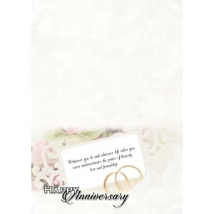 Personalized Anniversary Greeting Card 009 backview