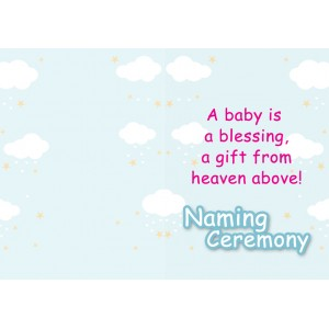 Personalized New Baby Greeting Card 001 backview