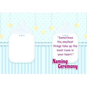 Personalized New Baby Greeting Card 002 backview