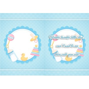 Personalized New Baby Greeting Card 004 backview