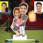 Baby Expecting Couple Caricature Photo Stand In