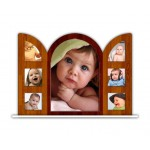 Personalized acrylic photo stand with multi photos - large