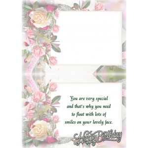 Personalized Birthday Greeting Card 003 backview