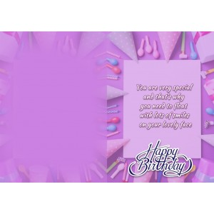 Personalized Birthday Greeting Card 004 backview