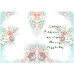 Personalized Birthday Greeting Card 005 backview