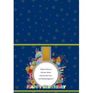 Personalized Birthday Greeting Card 006 backview
