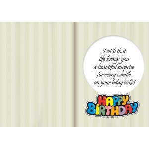 Personalized Birthday Greeting Card 007 backview