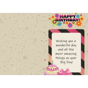 Personalized Birthday Greeting Card 009 backview