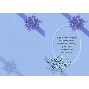 Personalized Birthday Greeting Card 010 backview