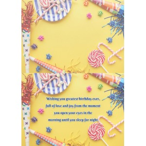 Personalized Birthday Greeting Card 011 backview