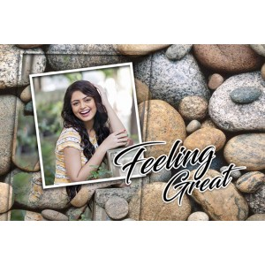 Personalized photo bed sheet with pillow cover set - design 004 backview