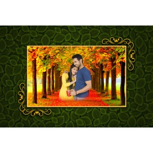 Personalized photo bed sheet with pillow cover set - design 008 backview