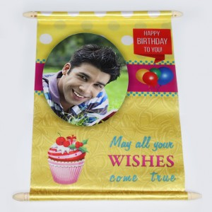 Birthday best wishes letter in scroll - personalized gift