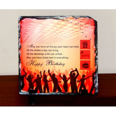 Birthday stone plaque with stand 001