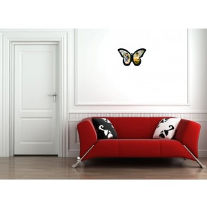 Personalised wooden photo butterfly wall hanging backview