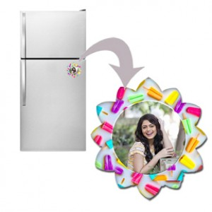 Candy flower designed personalized fridge magnet