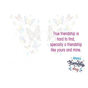 Personalized Friendship Day Greeting Card 001 backview