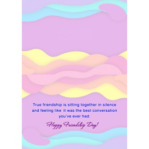 Personalized Friendship Day Greeting Card 004 backview