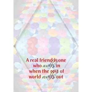 Personalized Friendship Day Greeting Card 005 backview