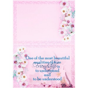 Personalized Friendship Day Greeting Card 006 backview