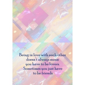 Personalized Friendship Day Greeting Card 007 backview