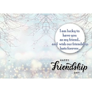 Personalized Friendship Day Greeting Card 008 backview