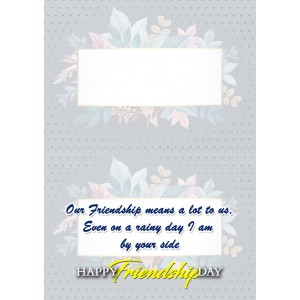 Personalized Friendship Day Greeting Card 009 backview
