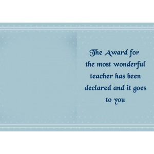 Personalized Teacher's Day Greeting Card 001 backview