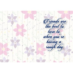 Personalized Friendship Day Greeting Card 010 backview