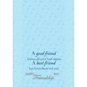 Personalized Friendship Day Greeting Card 011 backview