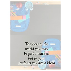 Personalized Teacher's Day Greeting Card 004 backview