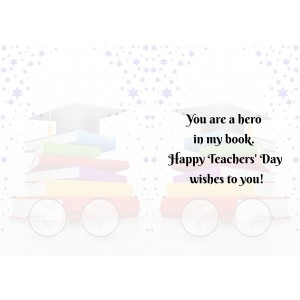Personalized Teacher's Day Greeting Card 007 backview