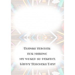 Personalized Teacher's Day Greeting Card 008 backview