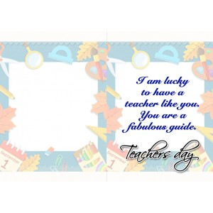 Personalized Teacher's Day Greeting Card 009 backview
