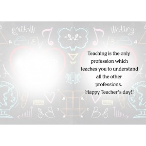 Personalized Teacher's Day Greeting Card 011 backview