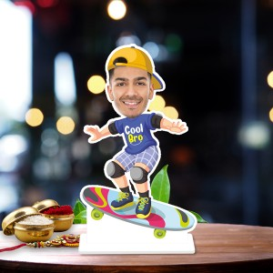 Cool boy scanting Caricature Photo Stand In