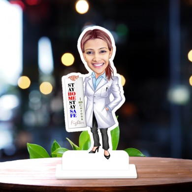 Corona Warrior Doctor 04  Caricature Photo Stand In