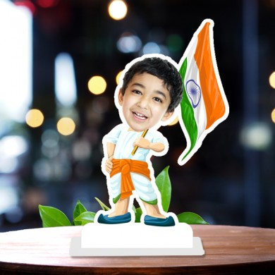 Independent Kid Caricature Photo Stand In