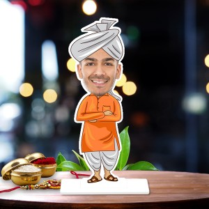 Village Leader Caricature Photo Stand In