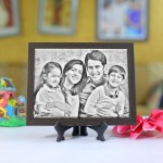 Personalized Photo sketch Tiles with Frame 6x8in