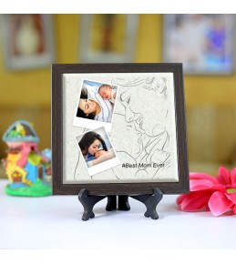 Personalized Photo Tiles with Frame for Mom 05