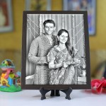 Personalized Photo sketch Tiles with Frame 8x10in