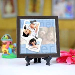 Personalized Photo Tiles with Frame for Mom 01