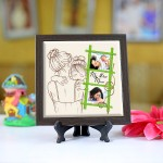 Personalized Photo Tiles with Frame for Mom 02