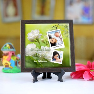 Personalized Photo Tiles with Frame for Mom 08