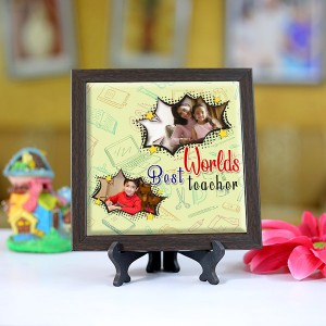 Personalized Photo Tiles with Frame for Teachers 01