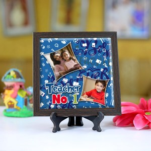 Personalized Photo Tiles with Frame for Teachers 04