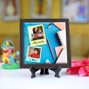 Personalized Photo Tiles with Frame for Teachers 07